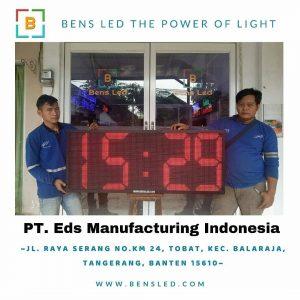 Running Text 53×133 cm PT Eds Manufacturing Indonesia Jl. Raya serang No.km 24 Kec. Balaraja Tangerang Banten