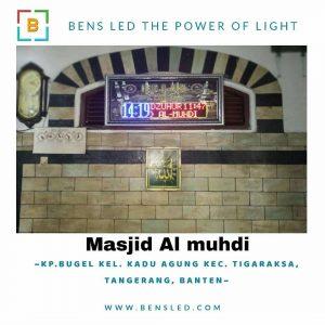 Jadwal Sholat Digital A3D - Masjid Al-Muhdi Kp. Bugel Kel. Kadu agung kec. Tigaraksa, Tangerang Banten