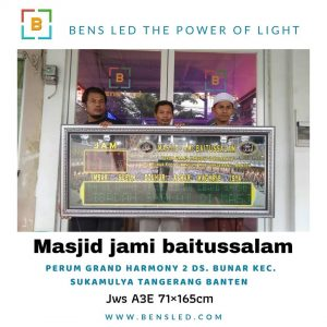 Jadwal Sholat Digital A3E - MASJID JAMI BAITUSSALAM perum grand harmony 2 balaraja Ds. Bunar kec. Sukamulya Tangerang Banten