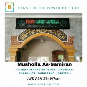 Jadwal Sholat Digital - A3X Musholla As-samiran Kec. Cikupa - Tangerang