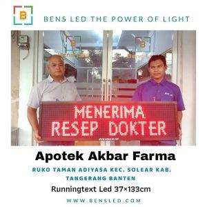 Running Text - Apotek Akbar Farma