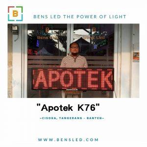 Running Text - Apotek K76 Cisoka - Tangerang